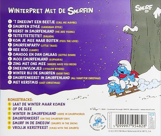 winterpret met de smurfen cd