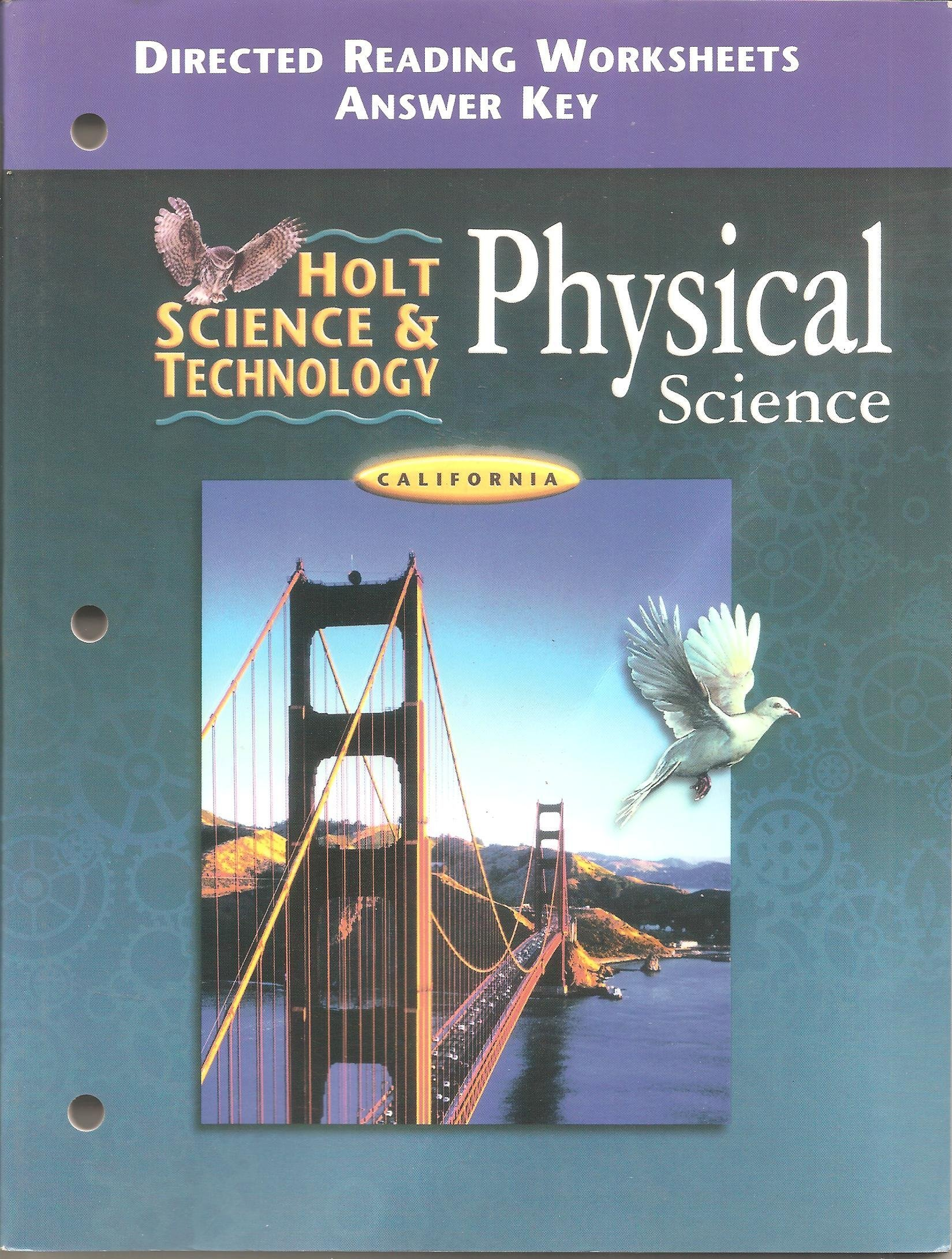 Holt Science And Technology Physical Science California Directed
