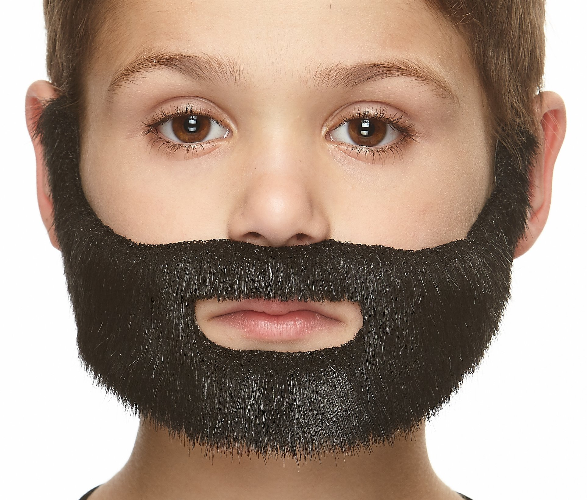 Mustaches Self Adhesive, Novelty, Fake, Small Nobleman Beard, Black Lustrous Color