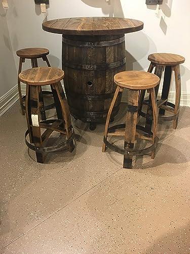 Bourbon Barrel Pub Table set