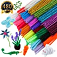 SUBANG 480pacs Pipe Cleaners Chenille Stem 6 mm x 12 Inch,24 Colors Available