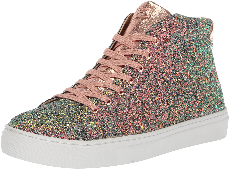 Skechers Women's Side Street-Rock Glitter Sneaker B0742SC4V5 5 B(M) US|Gold/Multi