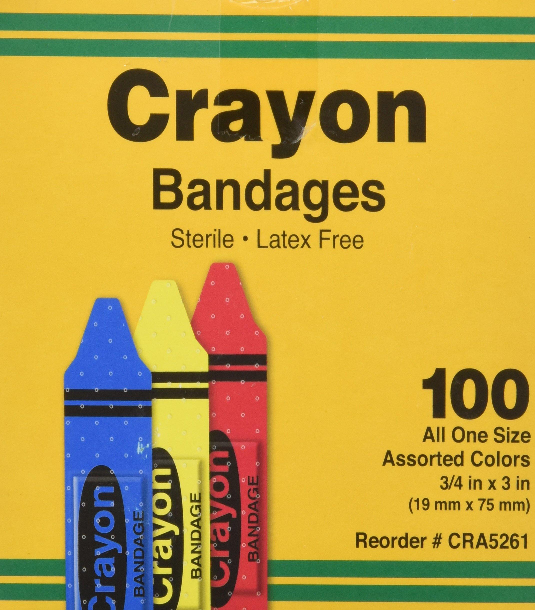 ASO Corporation Bandages, Crayon Strips, Adhesive, 100/BX (AGPCRA5261) Category: Bandages and Dressings