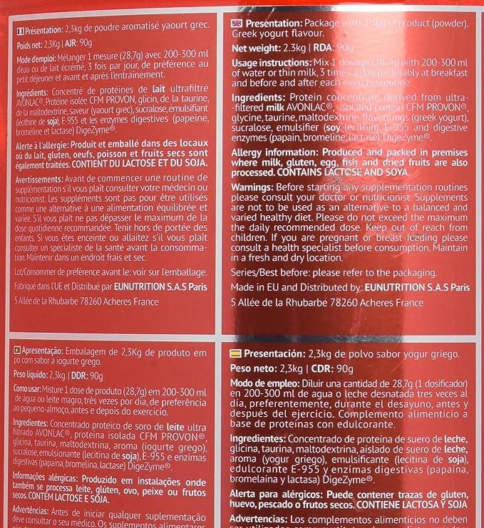 EU Nutrition 100% Whey Premium Évolution Greek Yogurt - 2300 ...