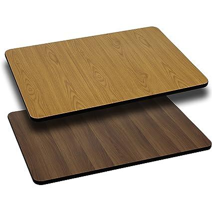 Incroyable Amazon.com: Flash Furniture 30u0027u0027 X 60u0027u0027 Rectangular Table Top With Natural  Or Walnut Reversible Laminate Top: Kitchen U0026 Dining