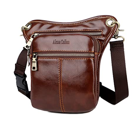 Fanny Waist Bag Genuine Leather Belt Bag Phone Card Bum Pack Pouch Casual Multi Hip Leg Mens Shoulder Crossbody Small Chest Bag 100% Original Luggage & Bags