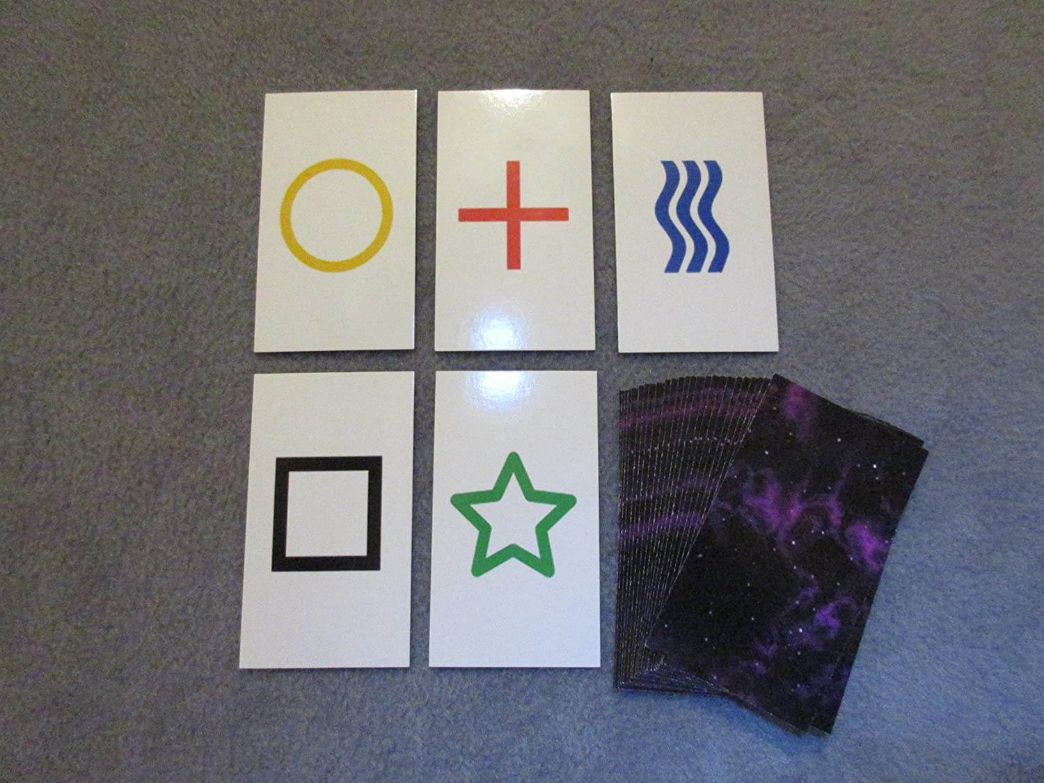 1Pk E02C niedrig Cost Zener Style Unmarked Esp Testing Cards - Not Marked - Not ein Magic Trick