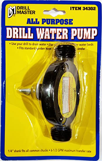 Drill Powered Water Pump With Garden Hose Hookup