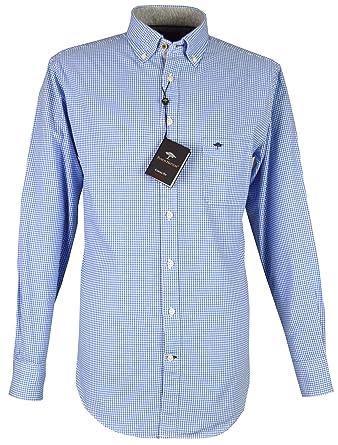 Fynch Hatton Herren Freizeit-Hemd blau blau kariert  Amazon.de  Bekleidung 585dc94b03