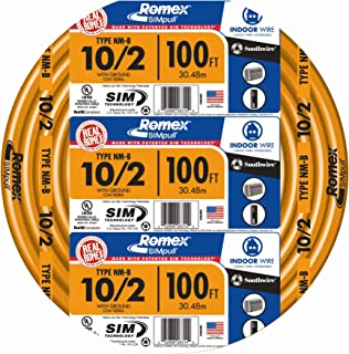 10 2 Wire >> 250 10 2 W G Uf Cable Electrical Cables Amazon Com