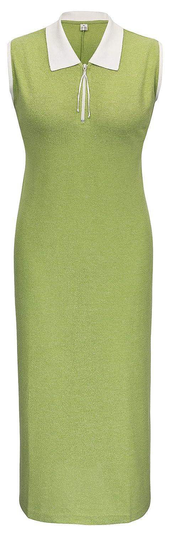 adonia mode Langes Polo Sommerkleid Strandkleid , Gr.48/50 - 56/58