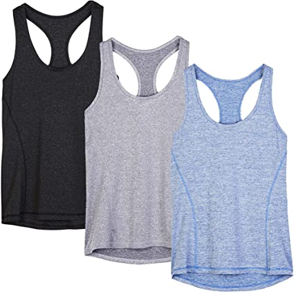 Chanyuhui Workout Tank Tops for Women Gym Exercise Athletic Yoga Tops Racerback Sports Shirts Sleeveless O-Neck Vests