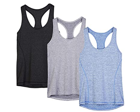 c9f384ddd icyzone Workout Tank Tops for Women - Racerback Athletic Yoga Tops, Running  Exercise Gym Shirts