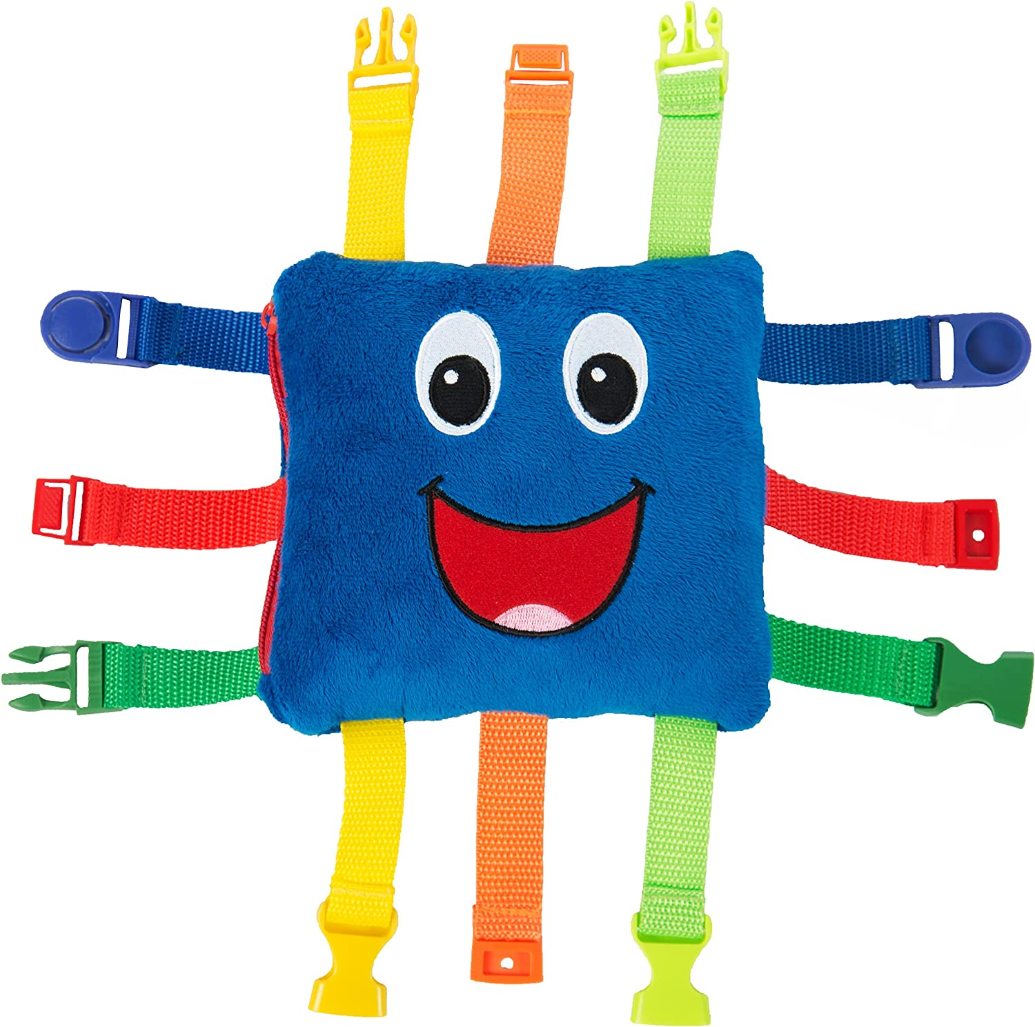 """BUCKLE TOY /""""Buster/"""" Toddler Early Learning Basic Life Skills Children's.. New"""