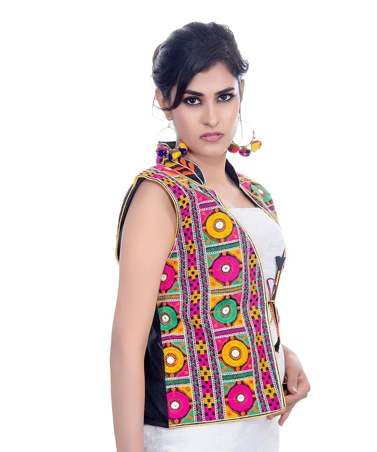 Amazon.com: Banjara India Kutchi Waist Length Jacket (Bharchak) (Black): Clothing