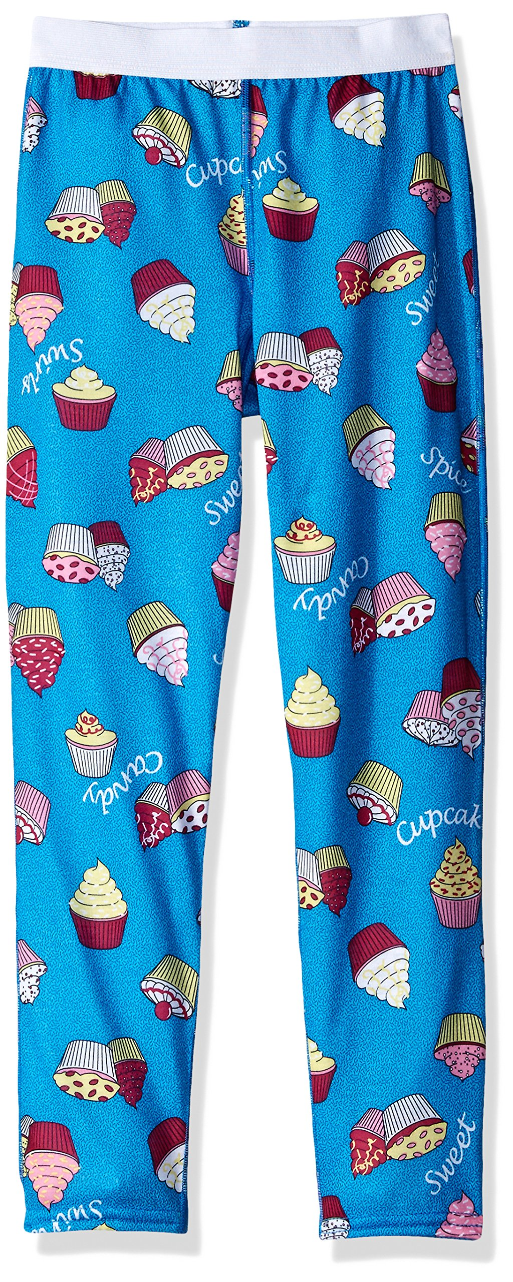 Hot Chillys Youth Pepper Skins Bottom, Cupcakes-Blue, Medium by Hot Chillys