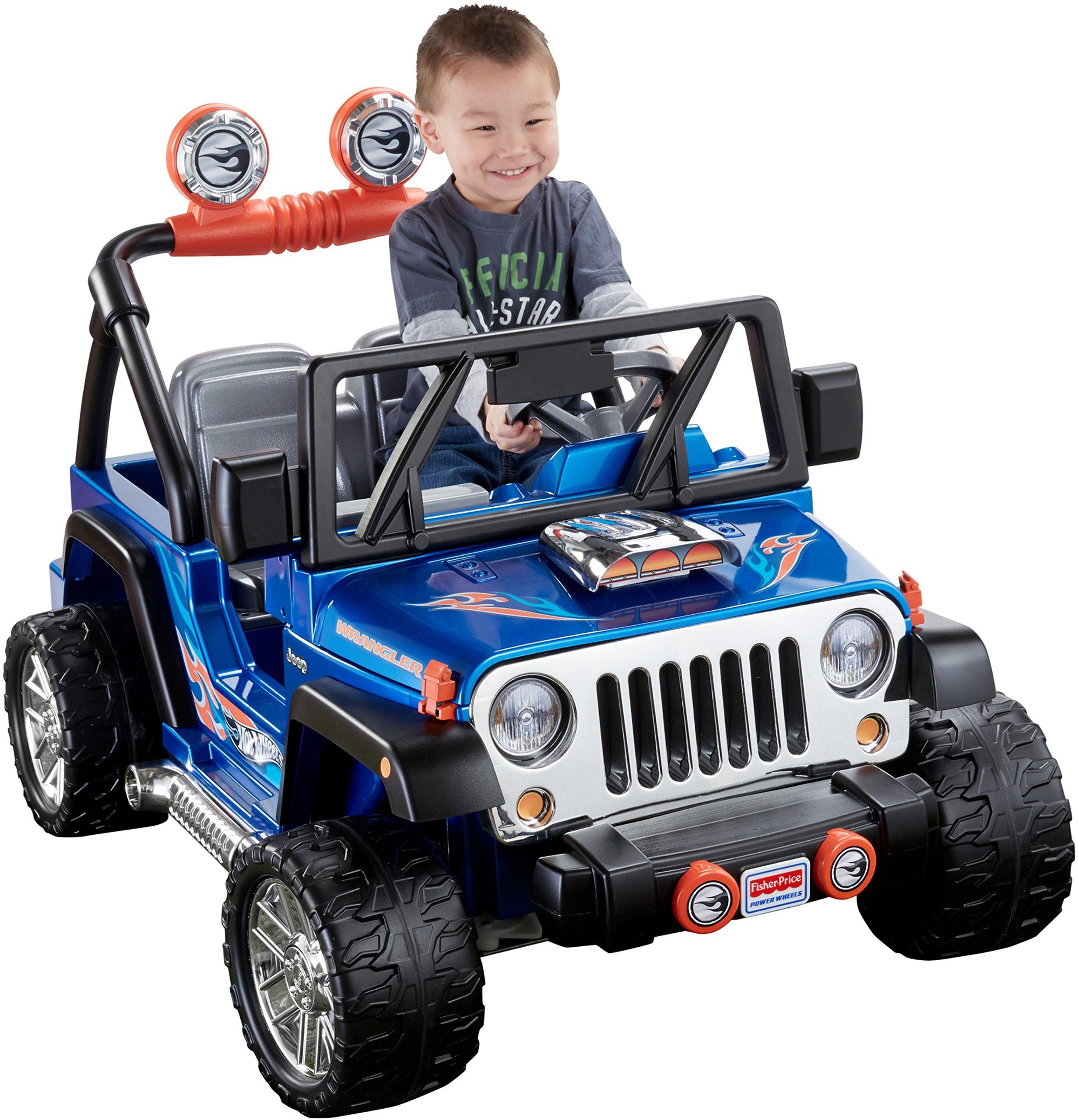 Power Wheels Hot Wheels Jeep Wrangler, Blue (12V) by Power Wheels