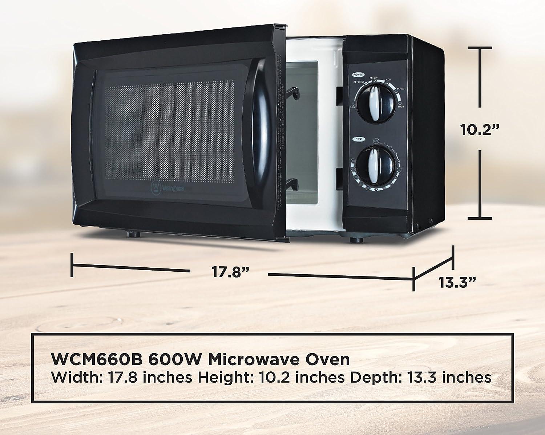 Amazon.com: Westinghouse WCM660B 600 Watt Counter Top Rotary ...