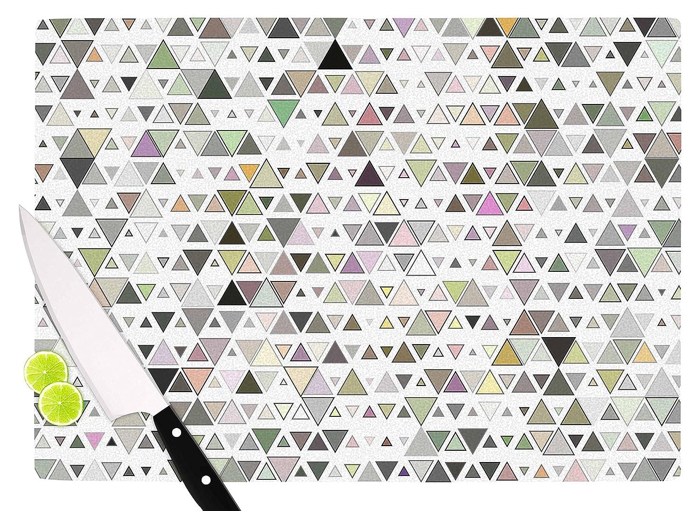 11.5 x 8.25 Multicolor KESS InHouse AC3019ACB01 Angelo CerantolaTriangulation Geometric White Cutting Board
