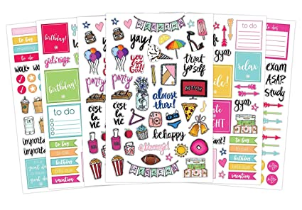 Bloom Daily Planners Classic Planner Sticker Sheets - Variety Sticker Pack  - Over 300 Stickers Per