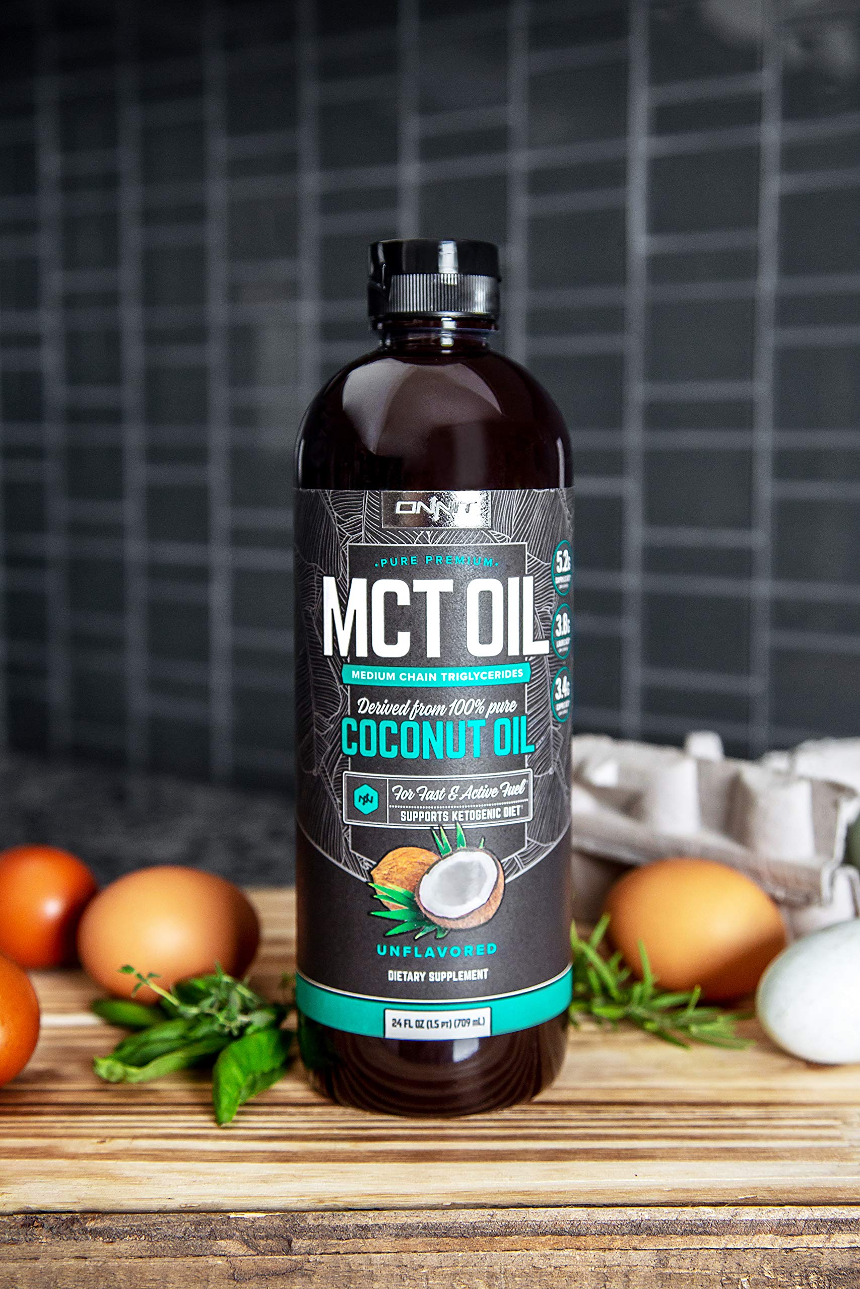 Onnit MCT Oil - Pure MCT Coconut Oil, Ketogenic Diet and Paleo Optimized with C8, C10, Lauric Acid - Perfect for Coffee, Shakes, and Cooking (Flavorless - 24oz) by ONNIT (Image #7)