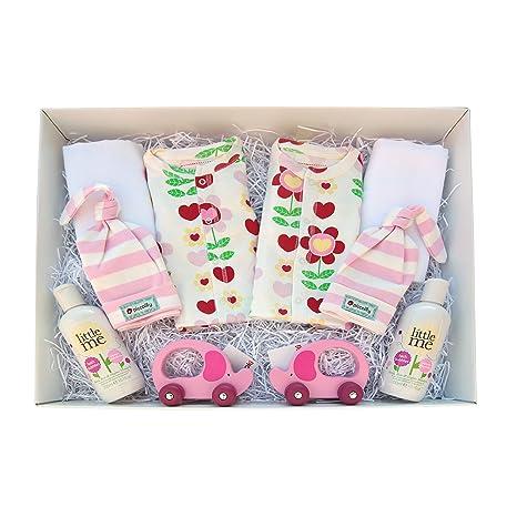 Cesta de regalo para bebés de 0 a 3 meses, incluye tarjeta de regalo personalizada