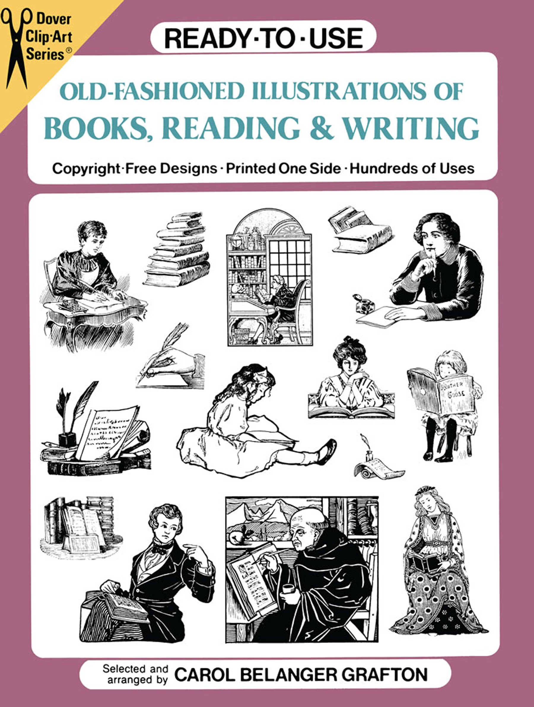 ready-to-use-old-fashioned-illustrations-of-books-reading-and-writing-dover-clip-art-ready-to-use