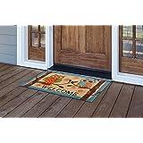 MILLIARD Door Mat WELCOME Doormat Coir Owl Printed Bird Design Outdoor Entrance Mat 18 x 30 in.