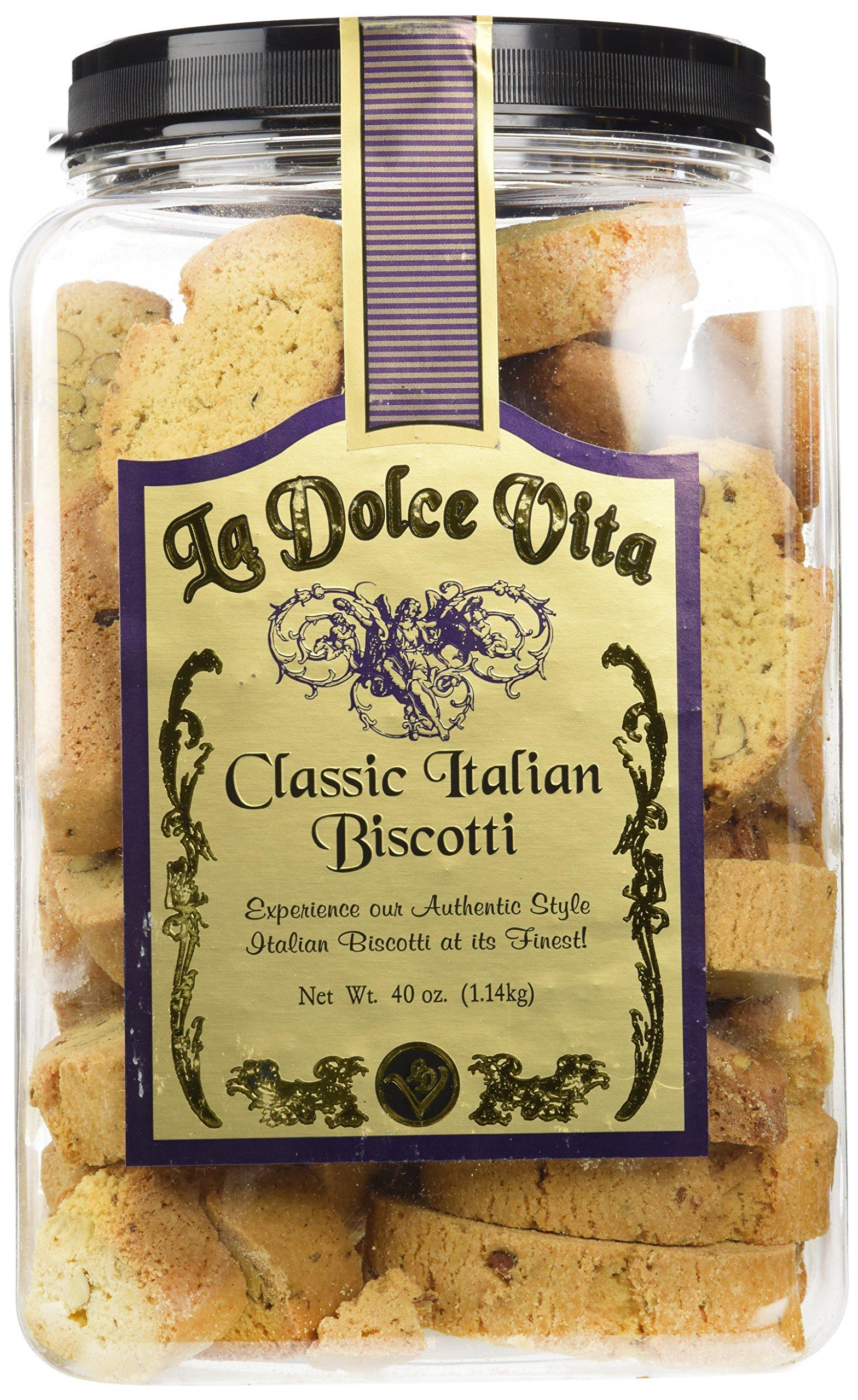 La Dolce Vita Classic Italian Biscotti Almond, 40 Ounce