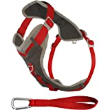 Kurgo Journey ™ Multi-Use Dog Harness, Reflective Harness, Dog Running Harness, Dog Walking Harness, Dog Hiking Harness, Red/Grey, Medium
