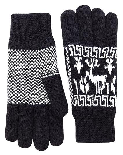 Wantdo Womens 3m Thinsulate Fleece Lining Winter Knit Gloves Warm