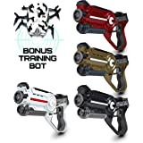 """Laser Tag Gun Gaming Set - """"Space Blasters"""" Multi Player Laser Tag for Kids Toy with 4 Pack Lazer Tag Gun Set + Laser Tag Spider Target and Carry Case"""