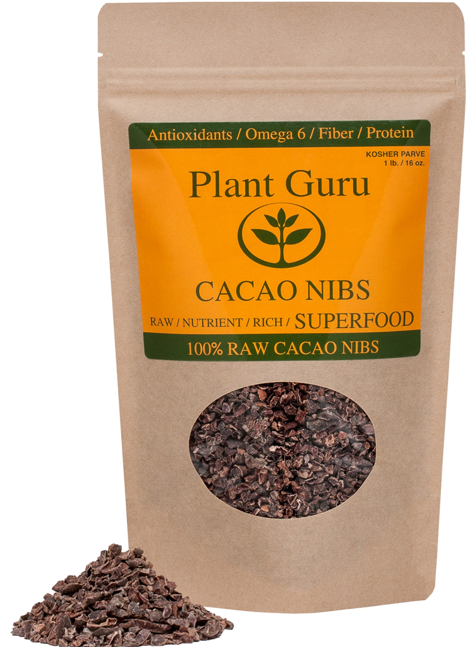 Premium Raw Cacao Nibs - 16oz/1 Pound ''Guaranteed Highest Quality''