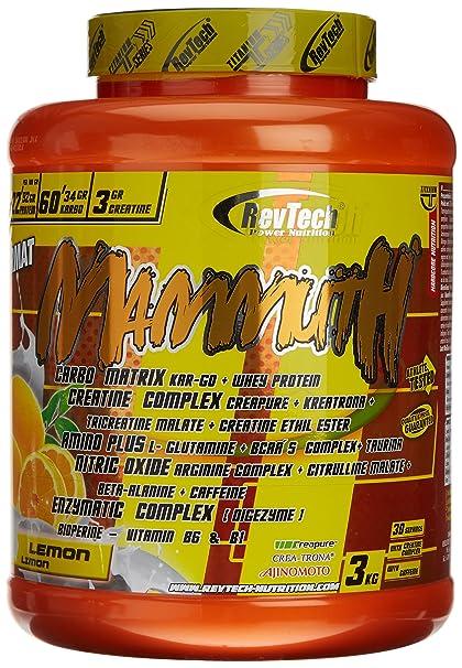 Revtech Mammuth Carbohidratos y Proteína, Sabor a Limón - 3000 gr