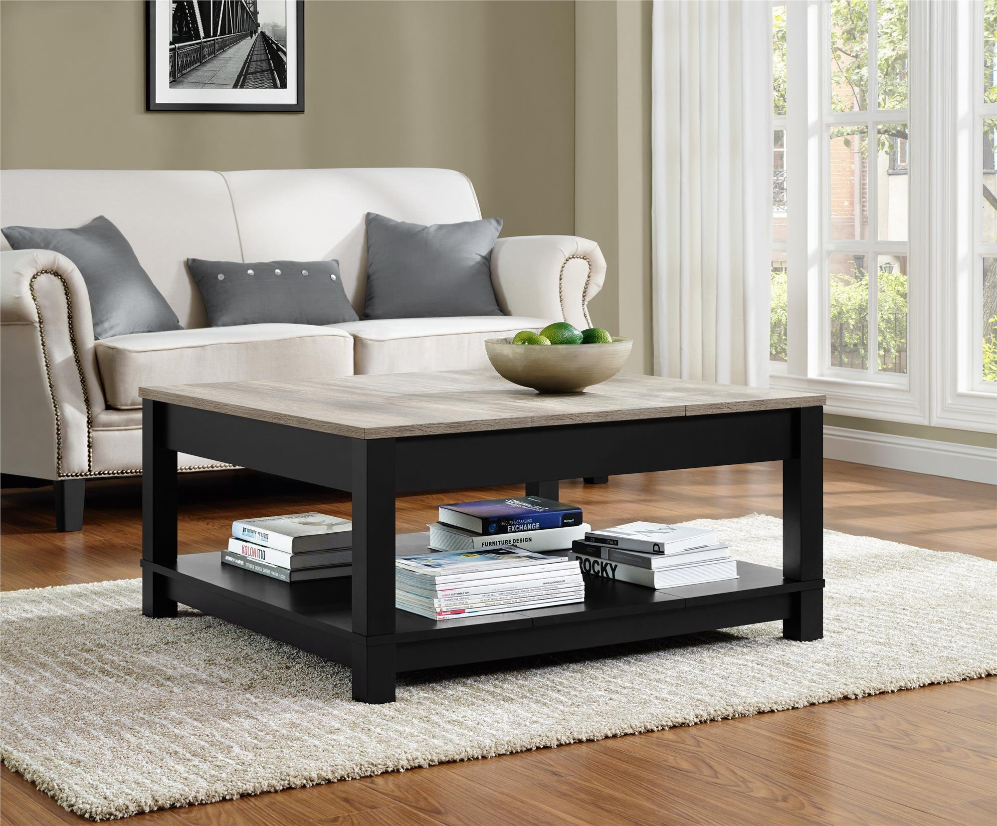 Ameriwood Home Carver Coffee Table, Black by Ameriwood Home