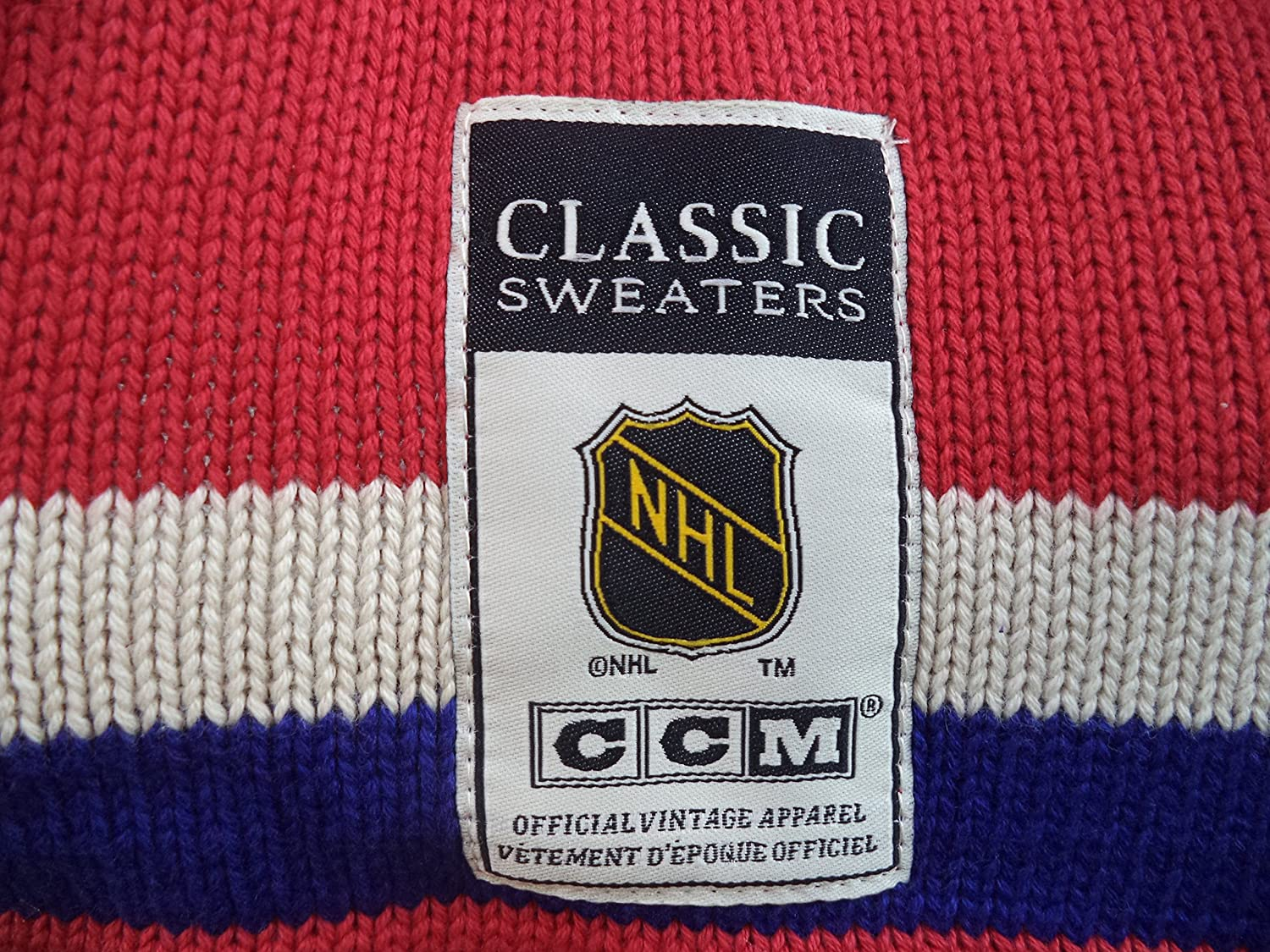 NHL Reebok Montreal Canadiens CCM NHL 1955-56 Classic Heritage Knit Sweater  (Large)  Amazon.ca  Sports   Outdoors 364b7c511