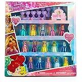 Townley Girl Disney Princess Peel-Off Nail Polish Gift Set for Kids, 18 Count