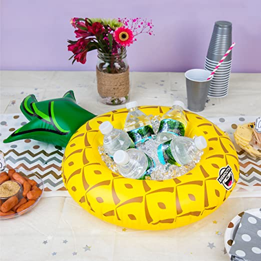 Amazon.com: BigMouth Inc Inflatable Pineapple Serving Ring, Pineapple Party Server, Holds Drinks, Snacks, Ice and More, Easy to Inflate: Kitchen & Dining