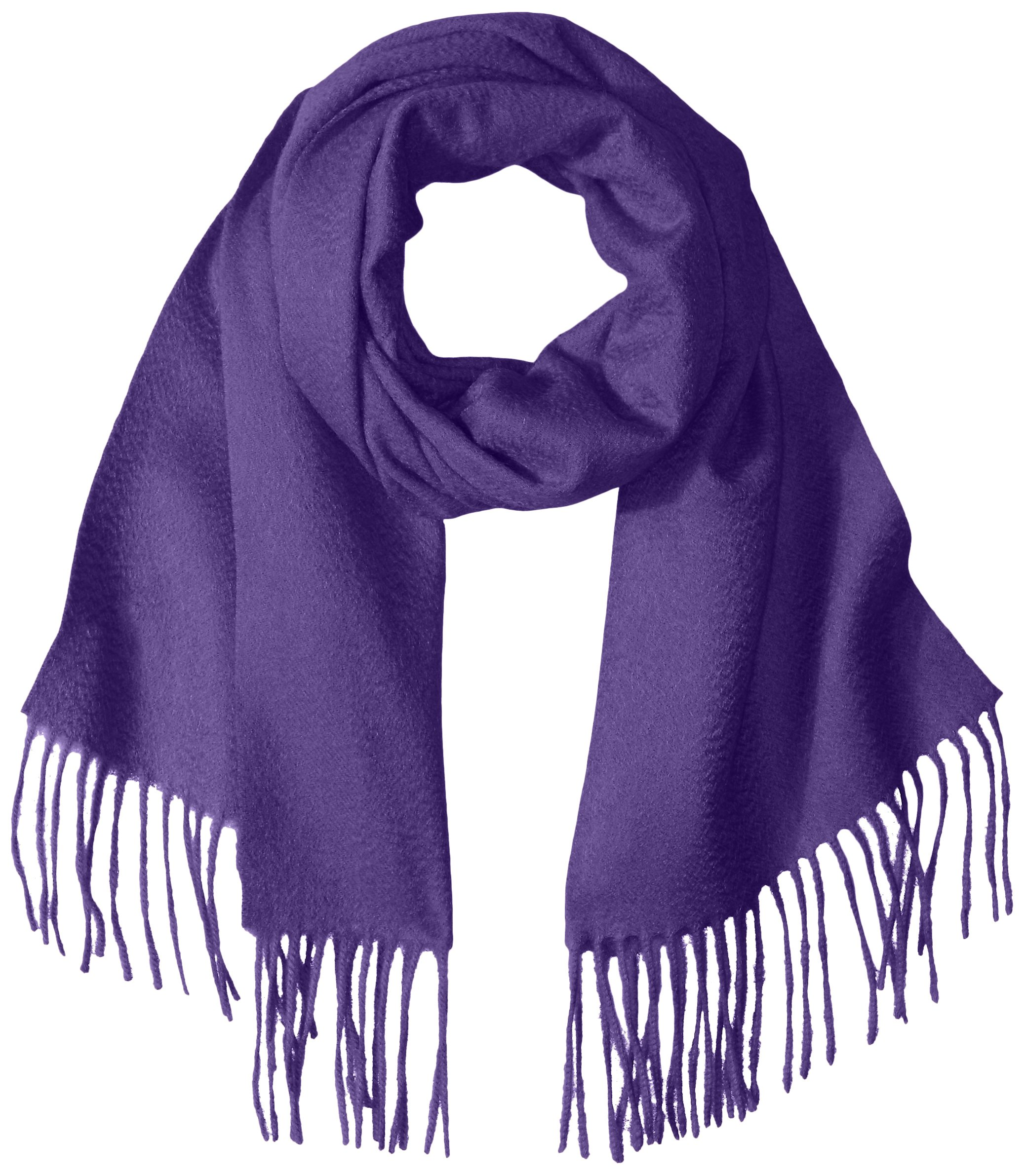 Sofia Cashmere Women's Woven Scarf with Fringe, Ametista, One Size