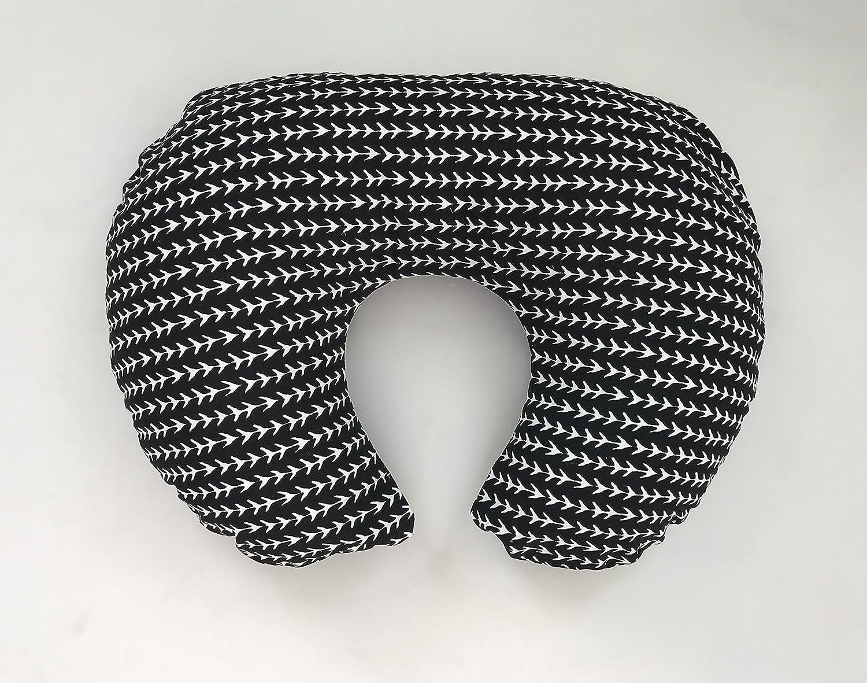 Nursing Pillow Cover - Black and White Stripe Arrows