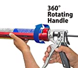 Tajima CNV-100SP Convoy Super Rotary Caulk Gun with Auto Flow Stop, Extra-Long 10-1/2-Inch Barrel and 1/10-Gallon Capacity