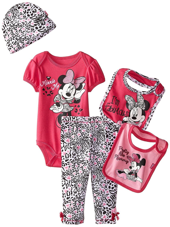 Disney Baby Girls' Minnie Mouse 5 Piece Gift Box Set, Purple 2286-P