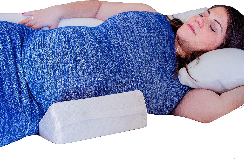 Baby Works Coussin cale de grossesse avec housse en bambou coloris blanc cass/é