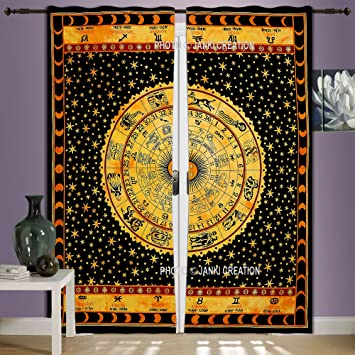 Amazon.com: Astrology Mandala Tapestry Large Wall Hanging Hippie ...