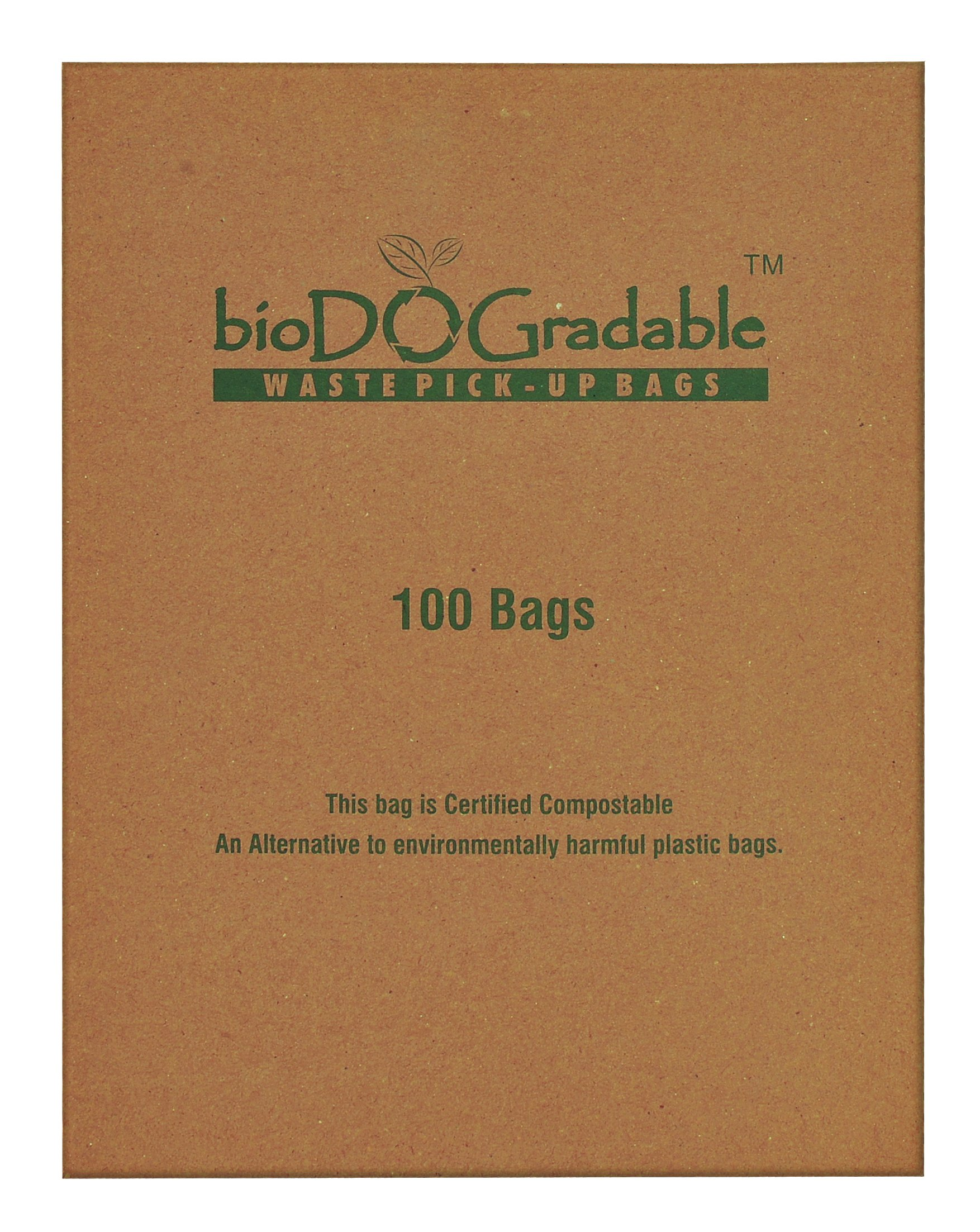 bioDOGradable Poop Bags Dog Waste Bags, Not Made from Plastic 100 Single-Pull Bags (2500 Bags)