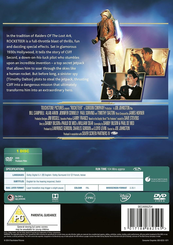 Rocketeer [Reino Unido] [DVD]: Amazon.es: Bill Campbell, Alan Arkin, Jennifer Connelly, Timothy Dalton, Paul Sorvino, Joe Johnston, Bill Campbell, Alan Arkin: Cine y Series TV