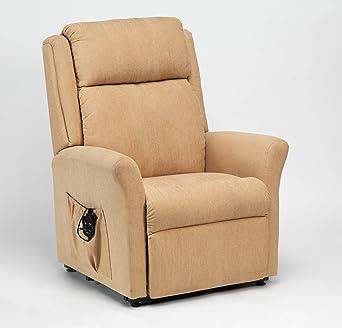 Drive Memphis Dual Motor Riser Recliner Chair in Biscuit
