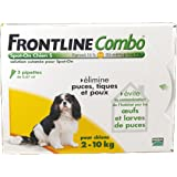 Frontline Combo chien 2/10 kg boite de 3 pipettes anti-puces et tiques