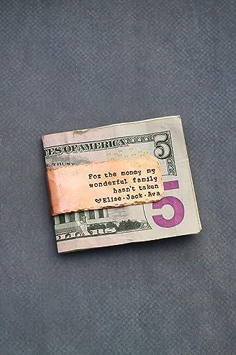 amazon com copper money clip dii abc personalized wedding gift