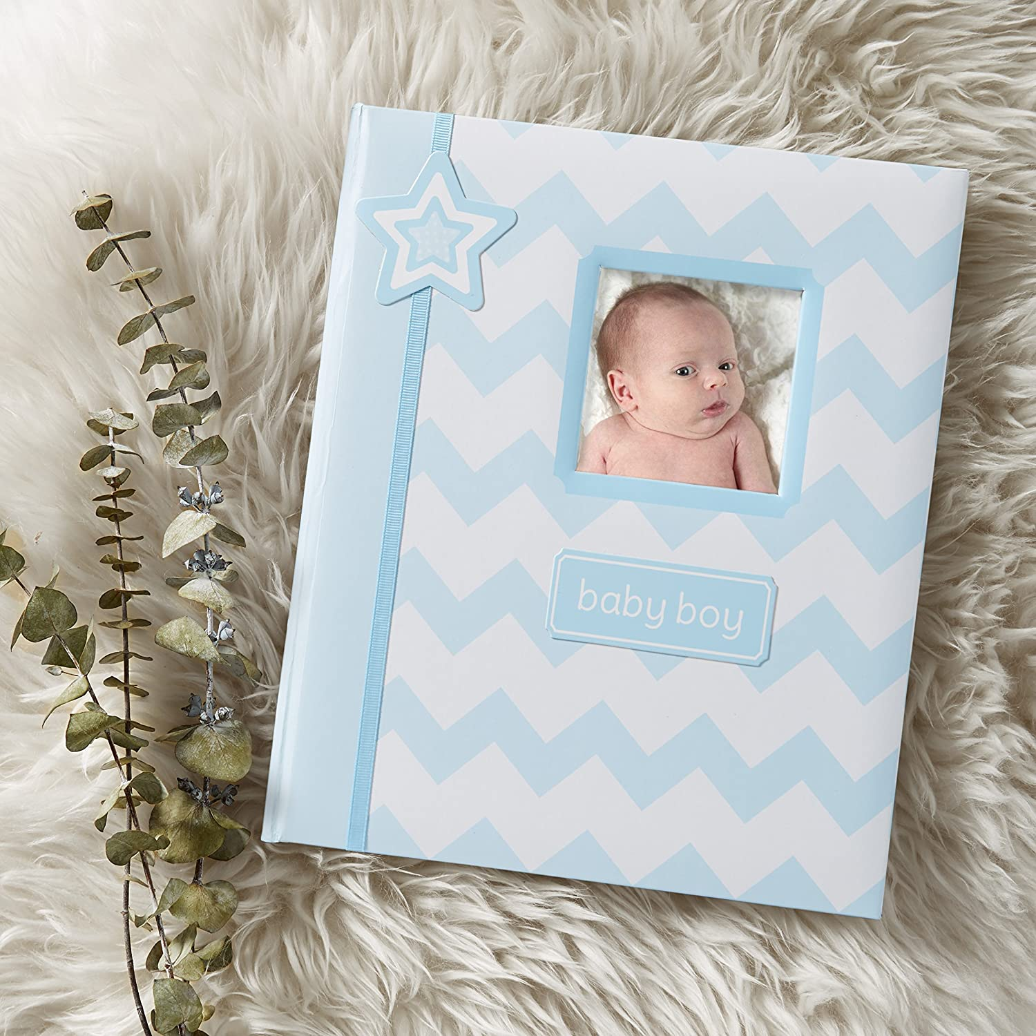 A Perfect Baby Shower Gift Blue Lil Peach Chevron Baby Memory Book